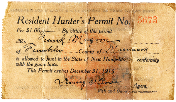Celebrate 150 years new hampshire fish and game department for Nh fishing license