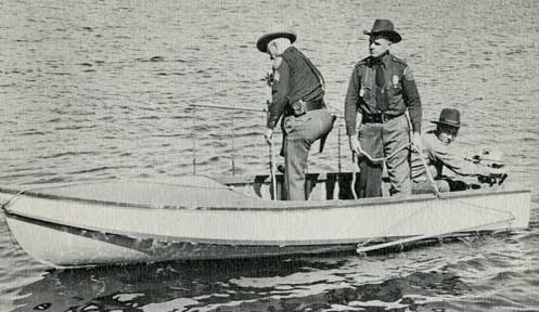 Officers on boat