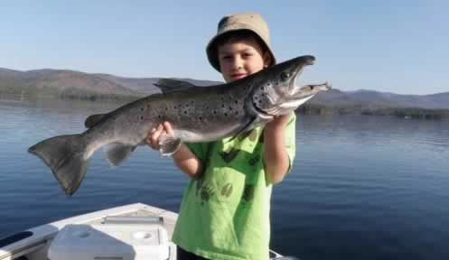 Child and salmon
