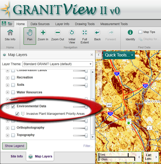 This Tool Allows You To View The Priority Areas For Invasive Plant Management Map In Any Location At Any Scale You Can Add Roads Conservation Lands