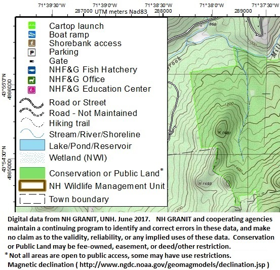 Topographic Maps Of NH Maps New Hampshire Fish And Game Department - Altitude map us