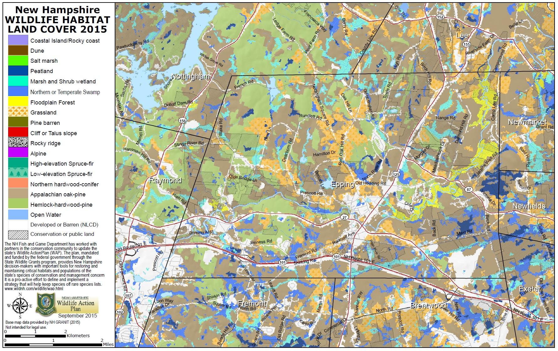 NH Wildlife Action Plan And Habitat Maps Wildlife New - Us land map